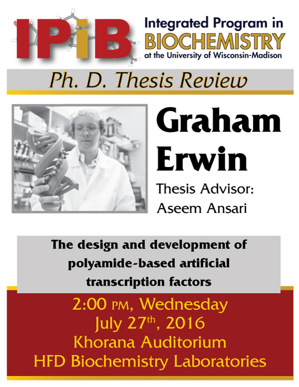 Poster for Graham Erwin's thesis review