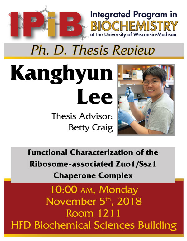Poster for Kanghyun Lee's Thesis Review