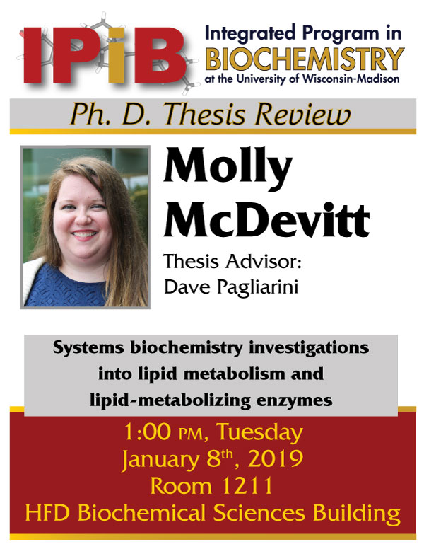 Poster for McDevitt thesis review