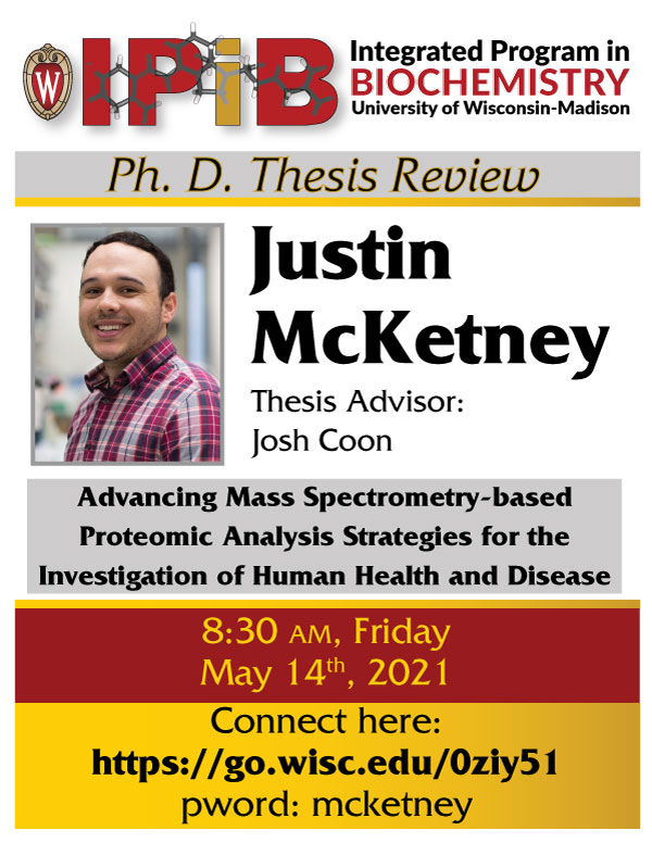 Poster for Justin McKetney Thesis Review