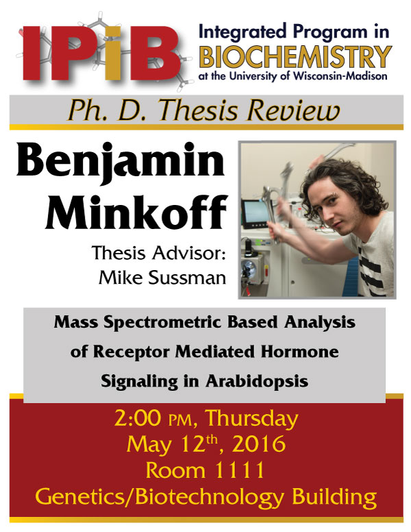 Ben Minkoff thesis review flyer
