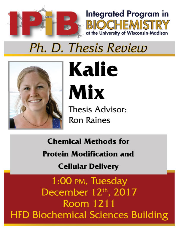 Poster for Kalie Mix thesis review