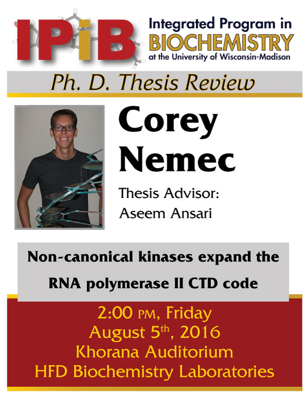 Poster for Cory Nemec Thesis Review