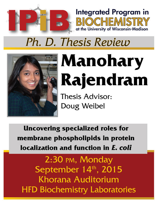 Manohary Rajendram thesis defenser announcement