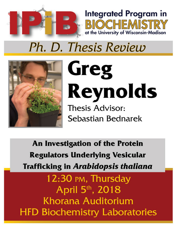 Poster for Gregory Reynolds Thesis Review