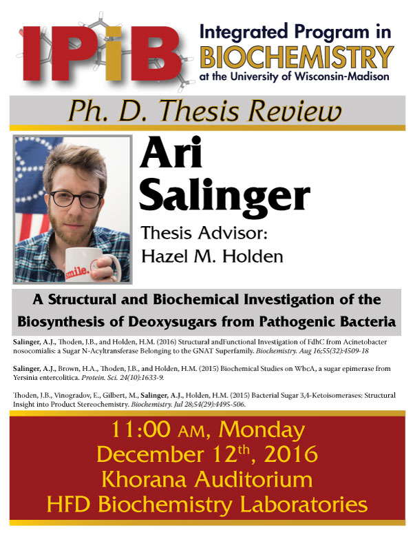 Poster for Ari Salinger thesis review