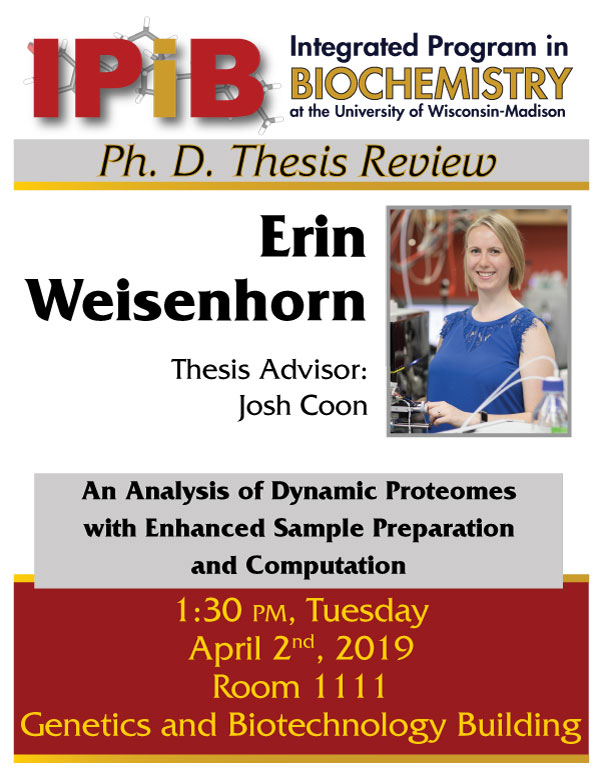 Poster for Erin Weisenhorn thesis review