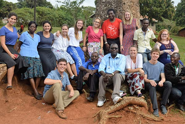 Group photo of UW–Madison Biochemistry students in Uganda