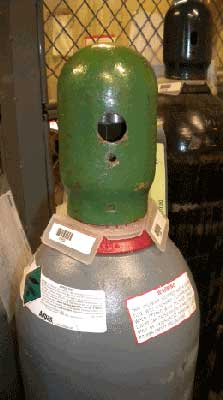 Gas Cylinder Capped When Not In Use Photo