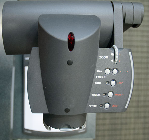 photo of document camera head controls