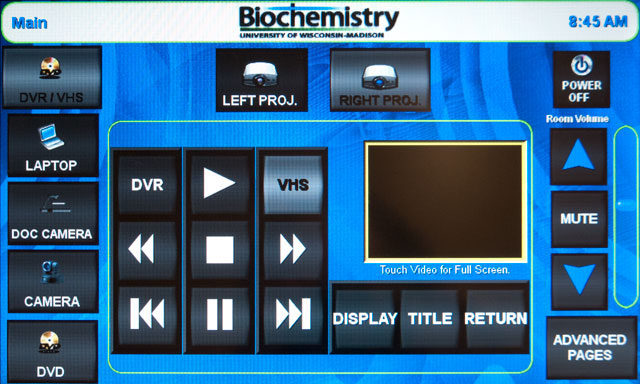 photo of dvr interface