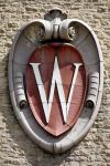 'W' crest on field house
