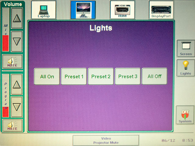 image of lighting control interface