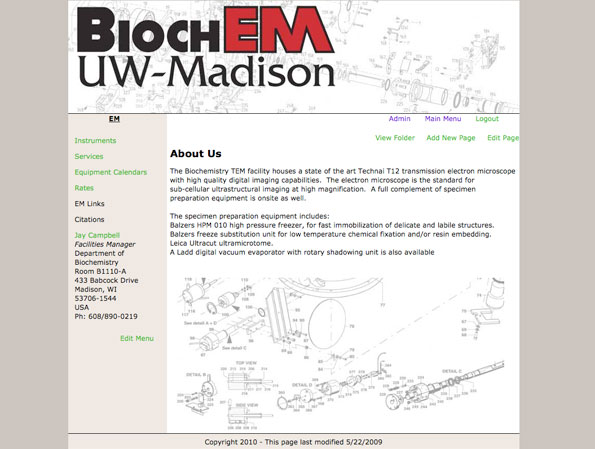 Photo of EM Group homepage