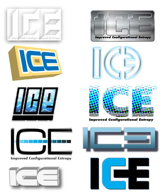 Photo of logo prototypes