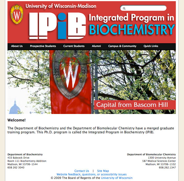 Photo of IPiB homepage