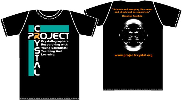 Photo of Project Crystal logo and shirt design