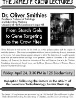 Photo of Smithies Lecture poster