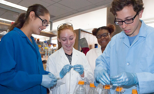Image of students in the lab