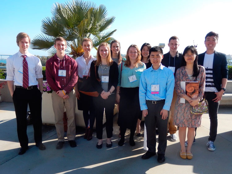 Photo of undergraduate group at ASBMB2016