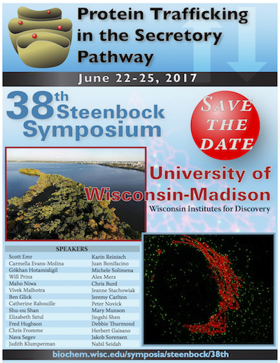 Poster with details about 38th Steenbock Symposium