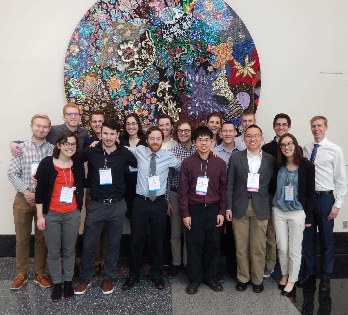 Group photo of biochemistry undergraduates at ASBMB