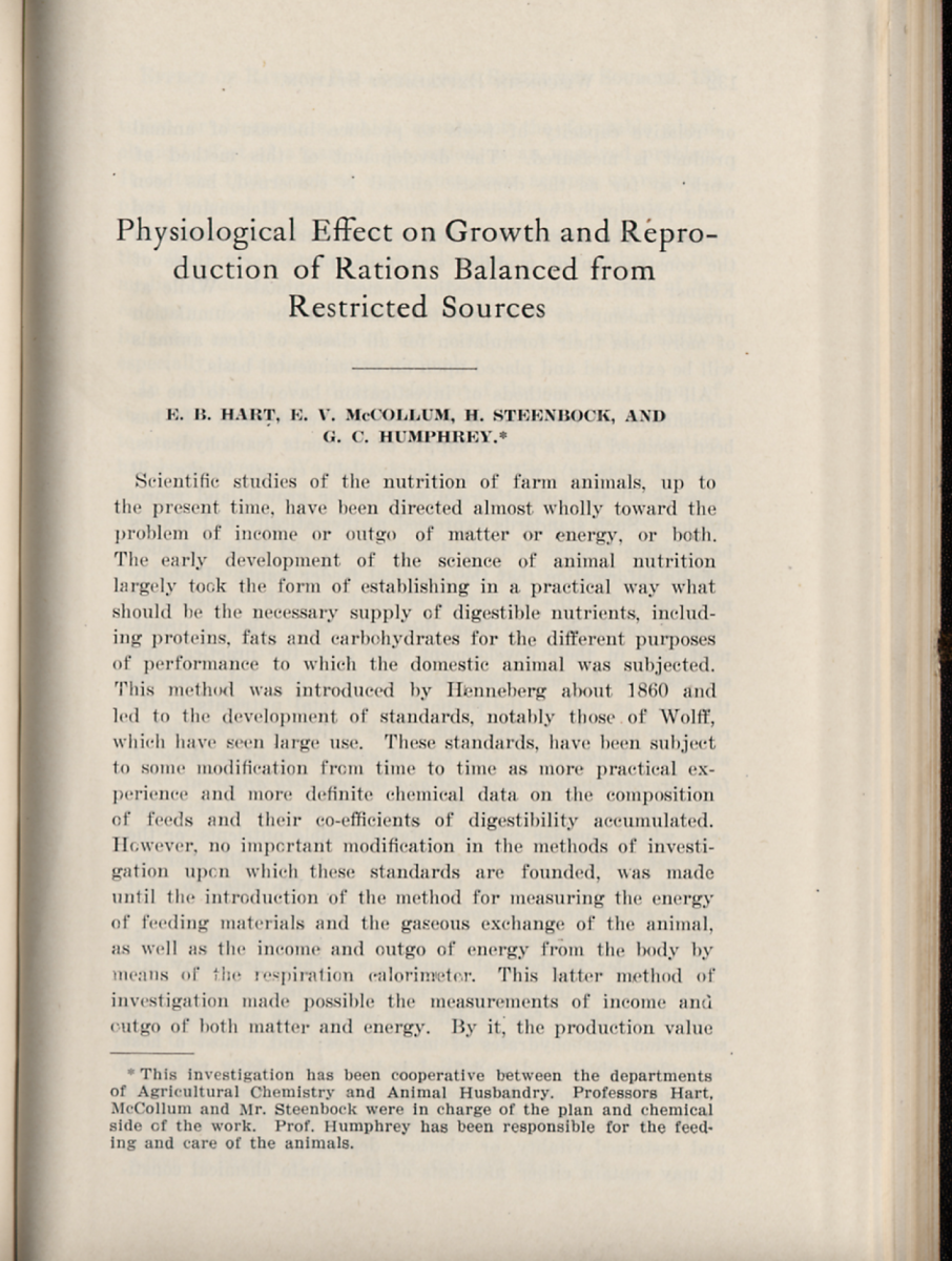 Image of the original publication of the single grain experiment