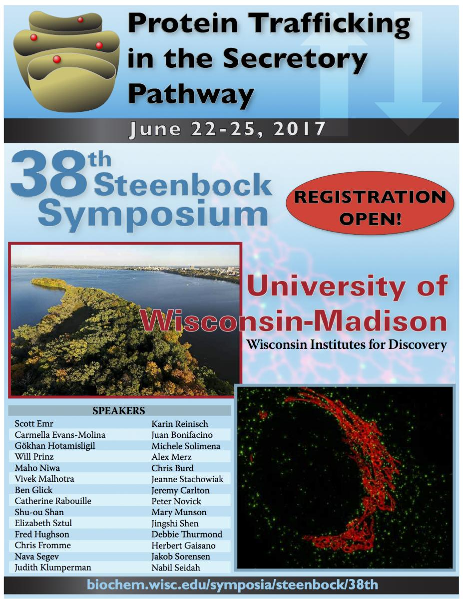Poster advertising the 38th Steenbock Symposium