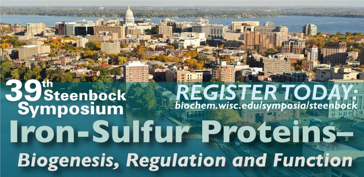 Flyer for the 39th Steenbock Symposium sponsored by the Department of Biochemistry