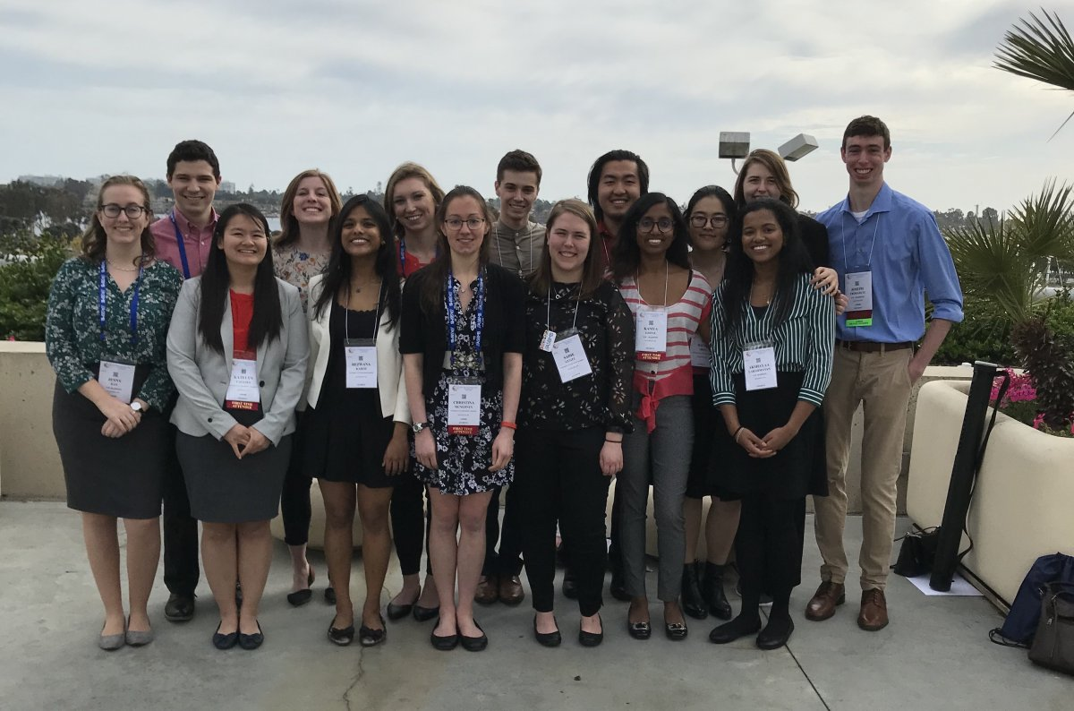 Group photo of biochemistry students who attended the ASBMB annual meeting