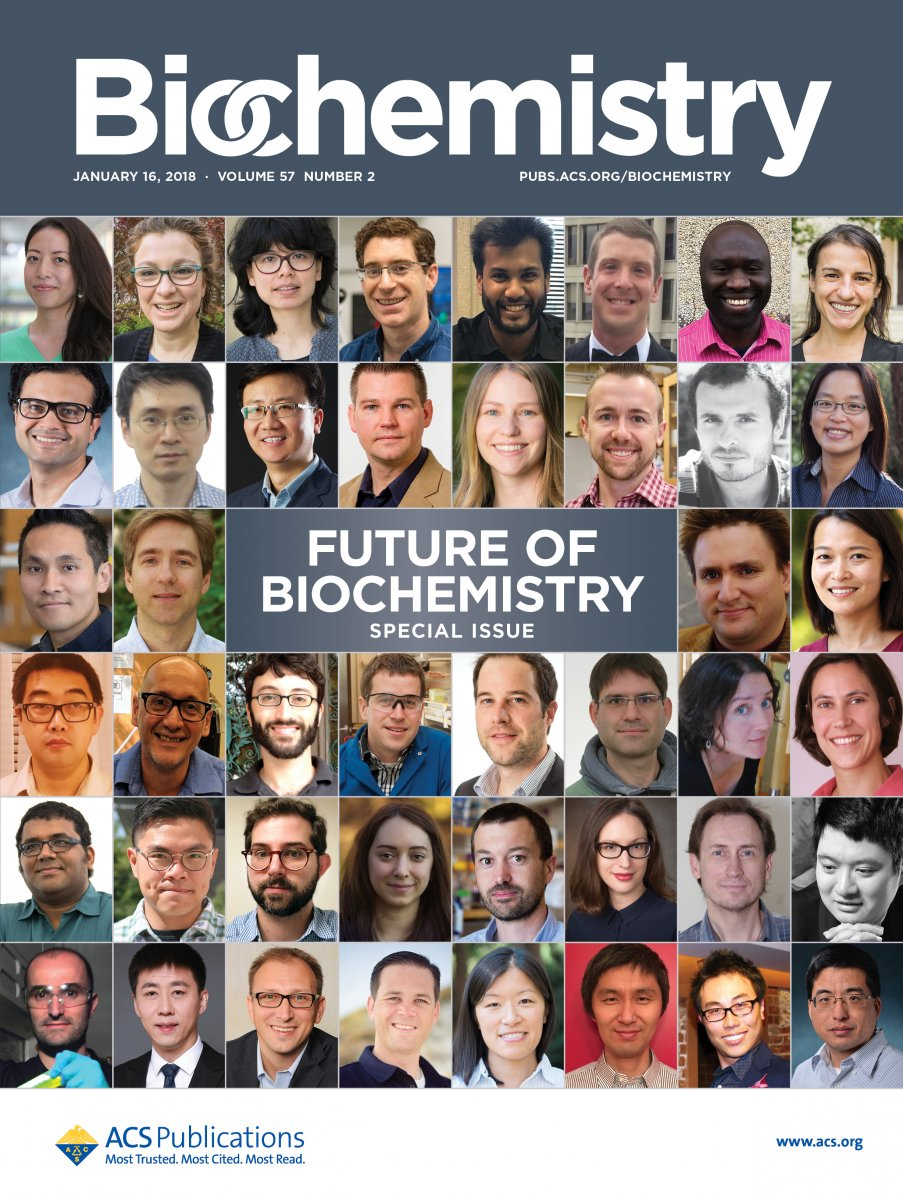 "The cover of Biochemistry's ""Future of Biochemistry"" special issue."