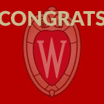 Congrats with UW–Madison crest