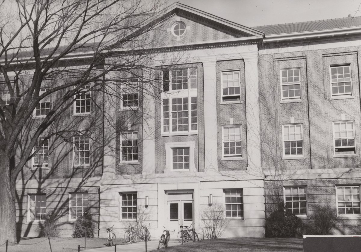 Historic photo of Elmer and the Biochemistry Building
