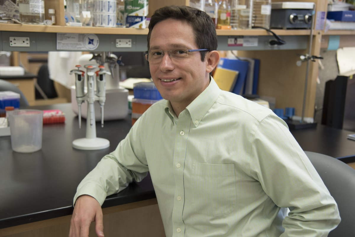 Eric Montemayor, associate scientist in the labs of  biochemistry professor Samuel Butcher and  biomolecular chemistry professor David Brow