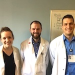 Three undergraduate biochemistry alumni at UPMC