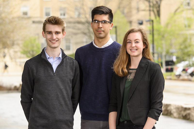 Group of three UW–Madison Goldwater Scholars.