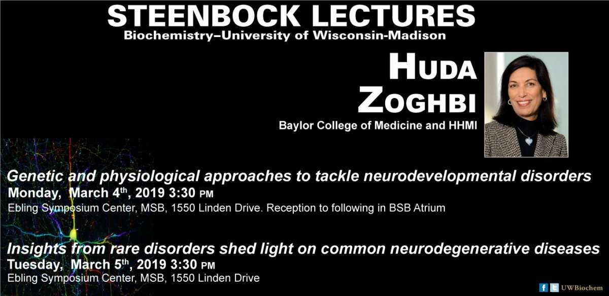 Image of the Steenbock Lecture ad