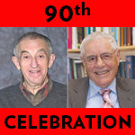 Adler and DeLuca 90th celebration logo