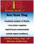Photo of See-Yeun Ting seminar announcement