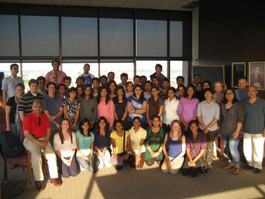 Photo of 2012 Khorana Scholars at orientation in Madison, WI
