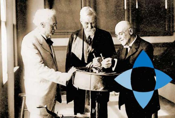 Image of Stephen Babcock and his original centrifuge