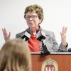 Photo of UW–Madison Chancellor Becky Blank